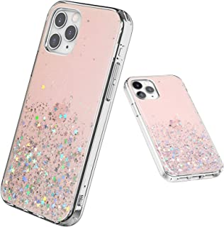QITELE Bling Sparkle Case For iPhone 12 / mini/Pro/max,Cute Girls Women Protective Case for iPhone 12 Mini/Pro/Max (For iP...