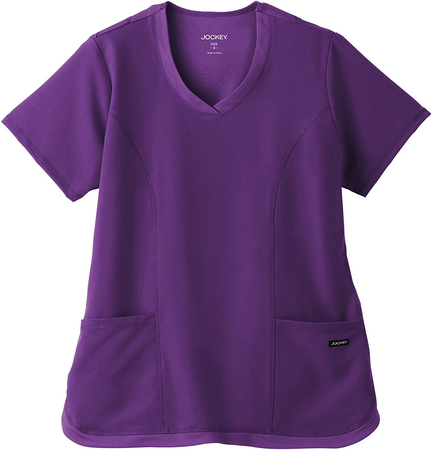 Jockey Modern Fit Collection Women's Curved Mesh VNeck Solid Scrub Top