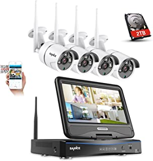 SANNCE 8CH Wireless Camera System 1080P HD NVR Recorder w/ 4X 1080P WiFi Security Outdoor CCTV IP Camera 100ft Night Visio...