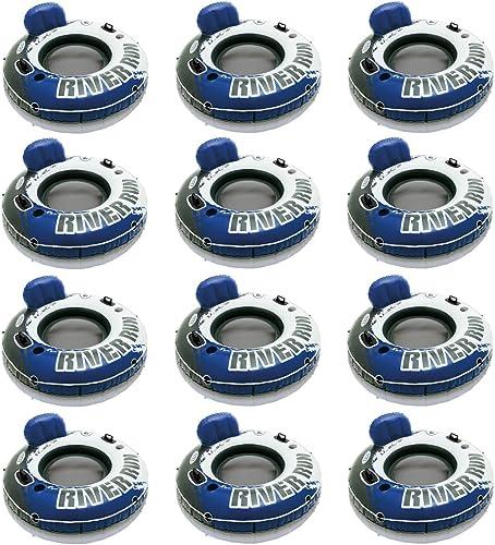 marcas de moda Intex Intex Intex River Run 1 Inflatable Floating Tube Raft for Lake, Pool (12 Pack) 58825EP  en promociones de estadios