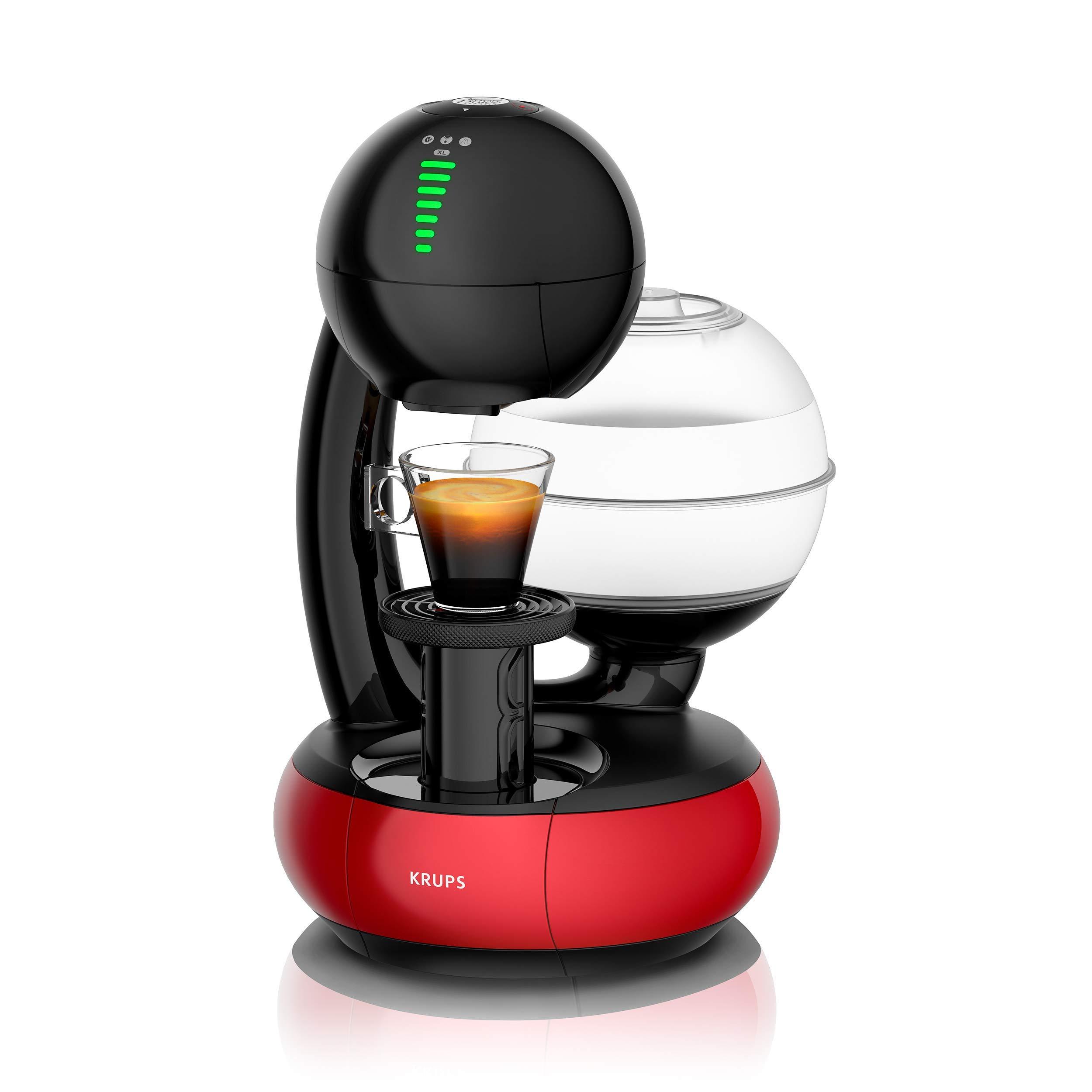 Krups - Cafetera de cápsulas Nescafé Dolce Gusto Esperta (1500 W, capacidad del depósito de agua: 1,4 l. Presión de la bomba: 15 bares) blanco/rojo: Amazon.es: Hogar