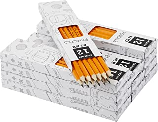 #2 HB Pencils - Wood Cased Yellow Pencils - Pre-sharpened - Box of 144 by Cezan