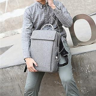 XTZLX USB Backpack Laptop Bag, Outdoor Sports Travel Bag, Water Resistant Bagpacks, Silver