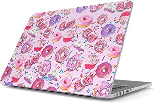 Glitbit Hard Case Cover Compatible with MacBook Air 13 inch Case Release 2018-2019, Model: A1932 with Retina Display and Touch ID Cupcake Sweet Guilty Pleasure Food Sprinkle Doughnut Rip Diet