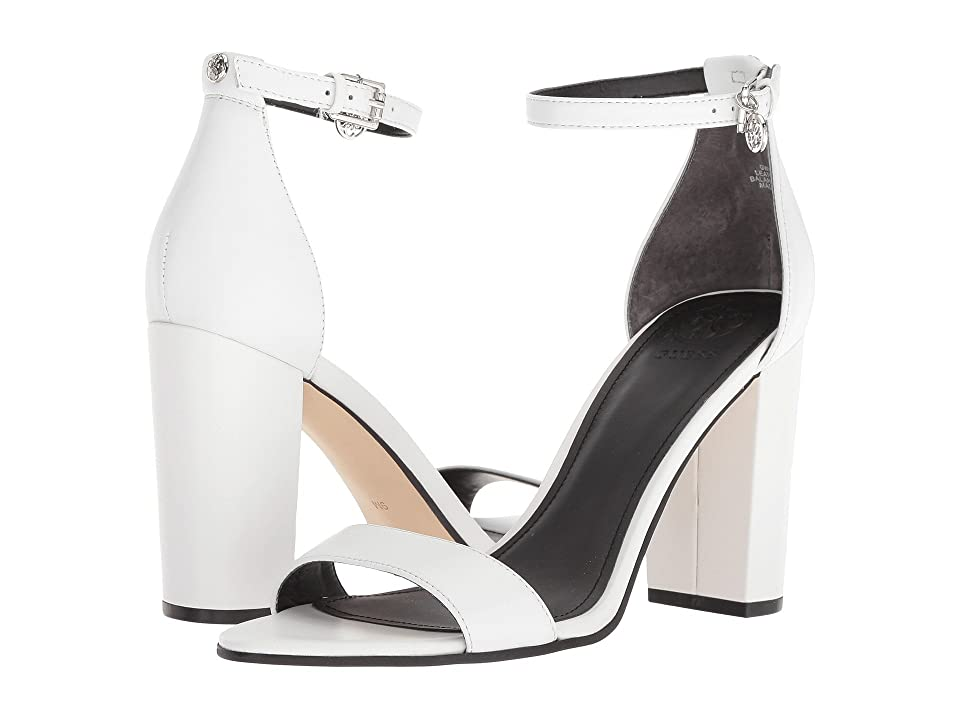 GUESS Bamboo (White Leather) Women