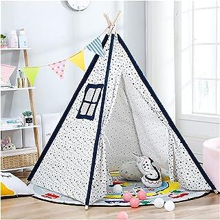 YSJJWDV Teepee tält 1,35/6 m bärbart barntält tipi-tält för barn Tipi Infantil lekhus Wigwam för barn barn tält (färg: Sva...