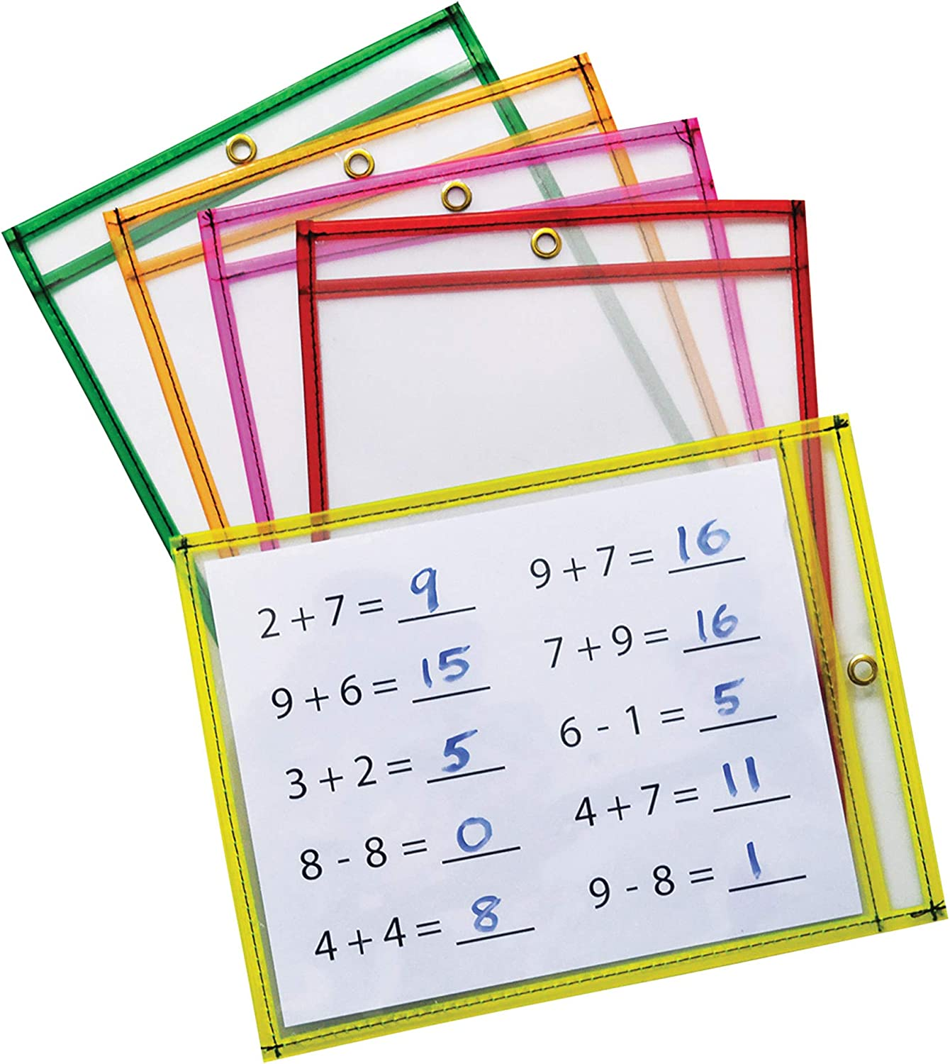 Pacon Dry Erase Pockets 5 Finally resale start Assorted Neon 9