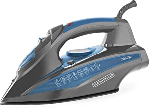Black & Decker BD BXIR2001IN 2000-Watt Steam Iron with Auto-Shut Off and Ceramic Sole Plate Coating (Blue)