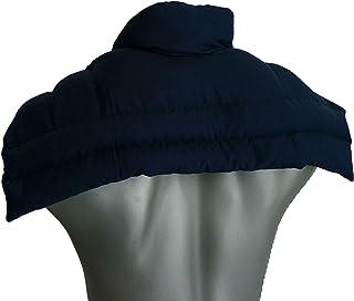 Coussin épaules et nuque avec col aux noyaux de cerises | bleu foncé | coussin thermique Coussin à graines