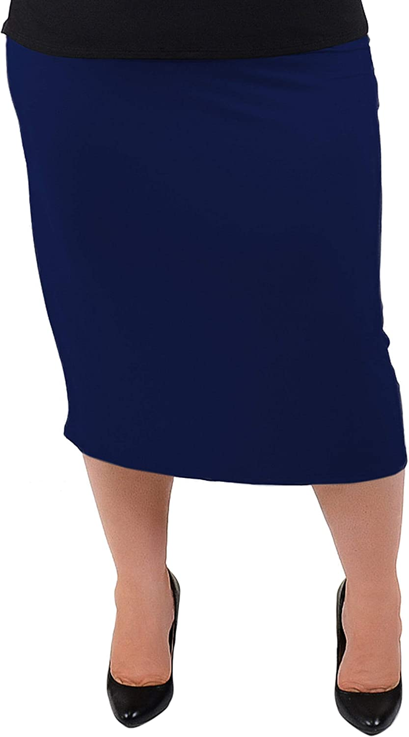 Women's Soft Stretch MIDI Skirt | Comfortable for Women | Small - Plus Size 6X