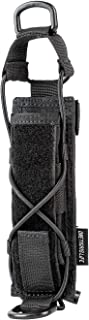 OneTigris Tactical Flashlight Holster Open-top Holder Pouch for Torch Linear Hand Tool with MOLLE Strap for Vertical & Horizontal Carrying (Black)