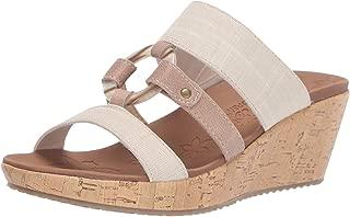 Skechers Women's Beverlee-Multi-Strap O-Ring Slide Wedge Sandal