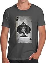 TWISTED ENVY Men's Ace of Spades 100% Organic Cotton T-Shirt