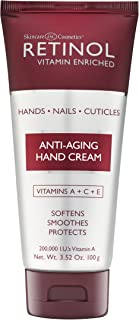 Retinol Anti-Aging Hand Cream – The Original Retinol Brand For Younger Looking Hands –Rich, Velvety Hand Cream Conditions ...