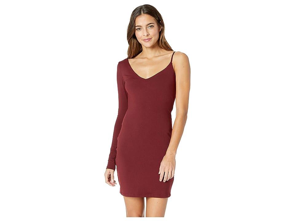 Susana Monaco One Sleeve Strap Dress (Oxblood) Women