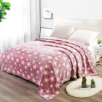 """i-baby Adult Blanket Large 3D Flannel Fleece Throw Blanket for Bedding & Sofa Couch   Super Soft Star Pattern Decorative Throw   Warm Cozy Large Bedspread (Queen Size/70""""x80"""")"""