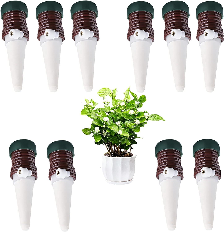 Jishengxing Riego por Goteo Automático Kit De 10Pcs, Goteo Spike Sistema de Irrigación para Jardín Bonsáis y Flores, Irrigación Automático en Vacaciones de Cerámica para Plantas