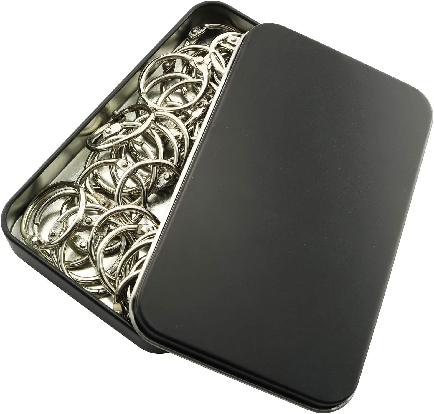 PSCCO Max 83% OFF 50pcs 1 inch Japan Maker New Book Ring Metal Binder Loose Rings Leaf