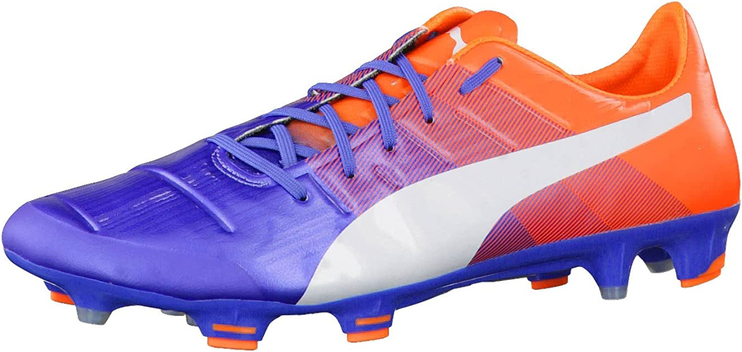 Puma soccer shoes evoPower 1.3 FG 103524 05 orange bluee Football Men, shoe size EUR 46.5