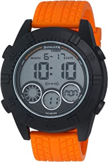 Sonata Analog Black Dial Men's Watch - 77038PP03J
