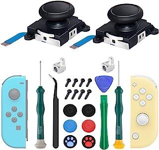 2-Pack Joycon Joystick Replacement Analog Thumb Sticks for Nintendo Switch, Joystick Replacement Parts Repair Kit for Joyc...