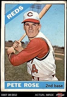 1966 Topps Venezuelan # 30 Pete Rose Cincinnati Reds (Baseball Card) Dean's Cards 1.5 - FAIR Reds