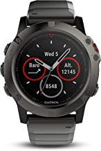 Garmin Fenix 5 Sapphire-Slate Gray with Metal Band (Renewed)