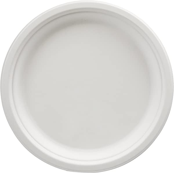 AmazonBasics Compostable Plates 10 Inch 500 Count