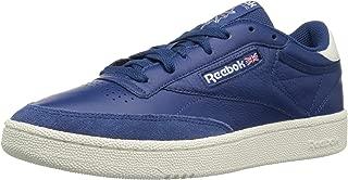 Reebok Men's Club C 85 Walking Shoe, TRC-Bunker Blue/Chalk, 10.5 M US