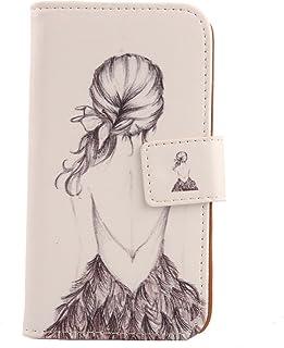"Lankashi Pattern PU Leather Wallet Flip Cover Skin Protection Case for Easyfone Prime A5 1.8"" (Back Girl Design)"