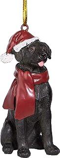 Best Design Toscano Black Labrador Retriever Holiday Dog Christmas Tree Ornament Xmas Decorations, 3 Inch, Full Color Review