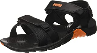 Puma Men's Force Idp Black-Vibrant Orange Outdoor Sandals