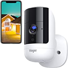 Security Camera Outdoor Wireless Wifi, Voger Rechargeable Battery Powered Surveillance System, 1080P with Dual PIR Motion ...