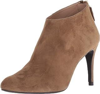 L.K. Bennett Women's Emily Almond Toe Suede Bootie Ankle Boot