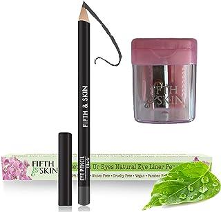 Sponsored Ad - Fifth & Skin Better'n Ur Eyes Eyeliner Pencil (BLACK) PLUS FREE SHARPENER! – NATURAL - Hypoallergenic - Sen...
