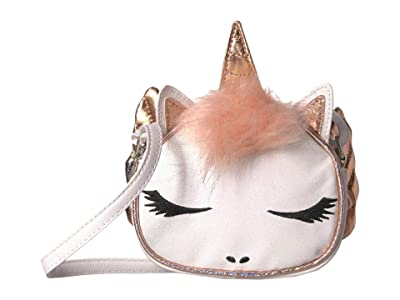 OMG! Accessories Winged Unicorn Crossbody (White) Cross Body Handbags