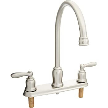 Moen Ca87060srs High Arc Kitchen Faucet With Side Spray From The Caldwell Collection Spot Resist Stainless Touch On Kitchen Sink Faucets Amazon Com