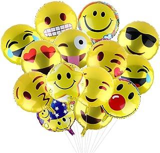 Yizhet Globos de Helio 24-Piezas Expresiones Faciales Decoracion con Globos Fiesta de Cumpleaños del Festival Decoración y Accesorio de Fiesta