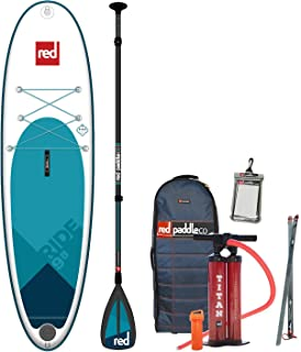 Red Paddle Co. 2018 9'8 Ride Inflatable SUP with Carbon Nylon 3 Piece Paddle
