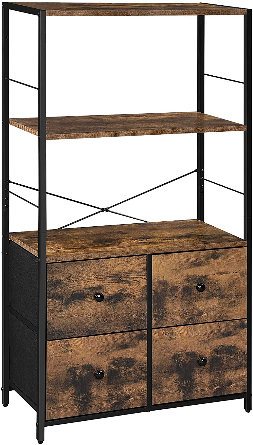 New product type SONGMICS Rustic Storage Cabinet Rack Shelves and Special price for a limited time F with