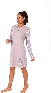 261 213 90 151 Damen Nachthemd langarm mit süssen Zierspruch