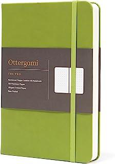 Ottergami – The Pro – notatnik w kropki A5 – bardzo gruby papier o gramaturze 150 g/m² – czasopismo z siatki punktowej (zi...