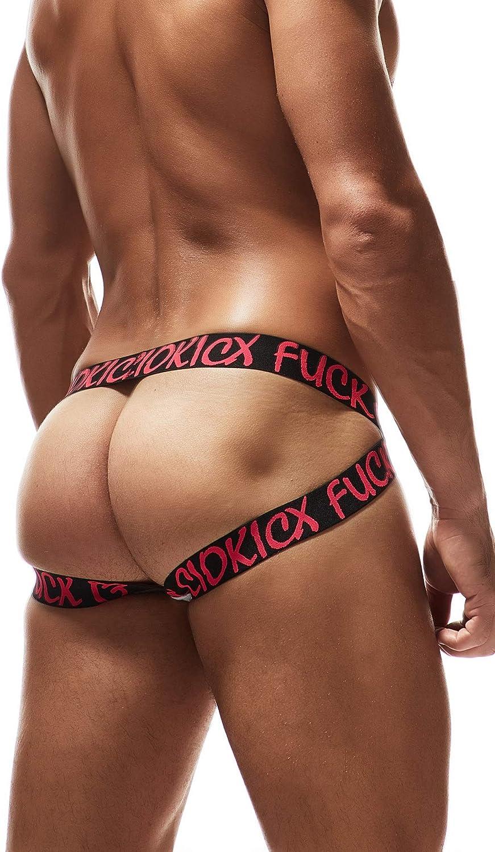 Maiclaice Mens Spandex Jockstrap Elastic Bikini Underwear Low Rise Briefs