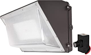 Hykolity 40W 5200lm High-Output LED Wall Pack with Photocell,175W MH Equivalent, Dusk to Dawn Outdoor Commercial LED Area Security Light,1-10V Dimmable,5000K Daylight, DLC Complied