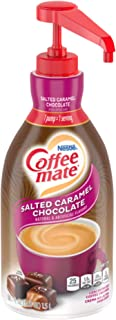 Nestle Coffee mate Coffee Creamer, Salted Caramel Chocolate, Liquid Pump Bottle, 50.7 Ounces