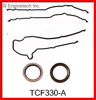 ENGINETECH TCF330-A Timing Cover Gasket Set Compatible with 1997-2016 Ford 5.4L 330 SOHC V8 16-Valve / 6.8L 415 SOHC V10 20-Valve