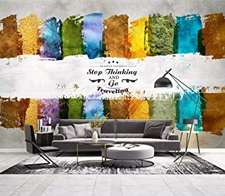 3D Wallpaper Photo Murals Roll Wall Papers Home Decor Paper Ink Stripes Modern English Font Imprint Wallpapers for Living Room Walls 3D Picture,240Cm (H) X 320Cm (W)