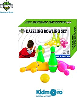 Kidmoro United Sports Dazzling Bowling Set with Light and Sound