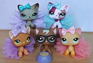 LPSFREE LPS Shorthair Cat Lot 391 2291 525 1176 339 Kitty with Magent and Accessories Lot Rare Collection Kids Girls Gift Set