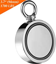 Wukong Fishing Magnet Double Sided Neodymium Magnet with Eyebolt, Combined 1700 LBS Pulling Force Super Strong Magnet for Magnetic Fishing, Treasure Hunting Underwater - 3.7